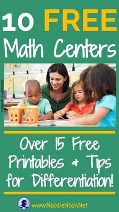 These FREE Printable Math Centers are perfect for K-5, Special Education, and…