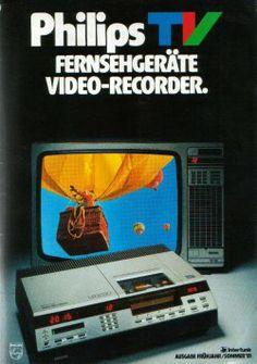 Het gromsound Apparatuurmuseum - V2000 VCC Videorecorders #VCR #homevideo #Philips #ad