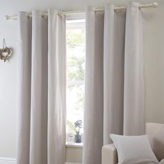 Natural Salcombe Curtain Collection | Dunelm