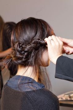 deconstructed braided updo
