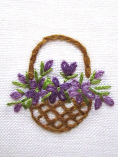Brazilian Embroidery Hand embroidery Greeting Card by Peacockbox - Brazilian Embroidery Stitches, Embroidery Flowers Pattern, Simple Embroidery, Learn Embroidery, Hand Embroidery Stitches, Silk Ribbon Embroidery, Hand Embroidery Designs, Embroidery Techniques, Embroidery Hoop Art