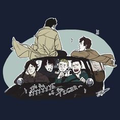 Supernatural, Sherlock, and Doctor Who all in one picture!