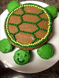 Creating The Turtle Cakes From A Ball Cake Pan Large Muffins And
