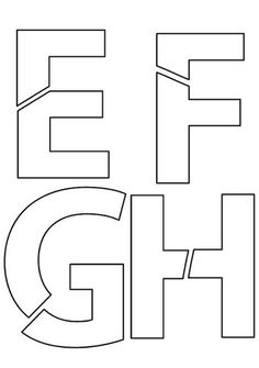 Free alphabet puzzle, cut up letters Learning Letters, Preschool Learning, Early Learning, Teaching Kids, Preschool Class, Numbers Preschool, Preschool Printables, Teacher Forms, Typo Logo