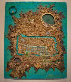 "#mindenmozaik #everythingismosaic #artistic #muveszi #art #kezmuves #mozaik #mosaic by  @rachelsagermosaics: ""Political Statement""...Accepted to Mosaic Arts International in Detroit! May 4 - June 15 Janice Charach Gallery (West Bloomfield Michigan)"