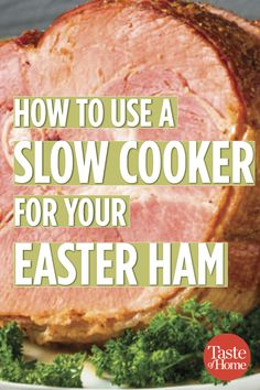 Can You Use a Slow Cooker for Your Easter Ham? You Bet! How to Use a Slow Cooker for Your Easter Ham Slow Cooking, Slow Cooked Meals, Crock Pot Slow Cooker, Slow Cooker Recipes, Crockpot Recipes, Cooking Recipes, Ham In Slow Cooker, Ham In Crockpot, Cooking Venison