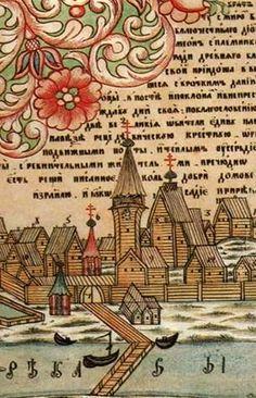 русский рисованный лубок