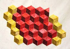 Jean's Quilting Page: Cubes, cubes and more cubes....