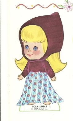 old paper doll...her name is Lola Liddle. :)