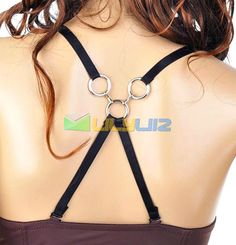 € 0.76 3 tirple rings Bra Brassiere Clip Shoulder cross Belt Strap sexy party queen (BLACK) FREE SHIPPING!