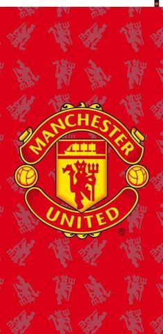Strandlaken Rood Logo 75x150cm  #voetbalkids #laliga #cadeau #premierleague #voetbal
