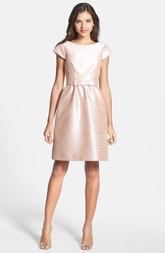"Alfred Sung Woven Fit & Flare Dress | Nordstrom // in ""Pearl Pink"""