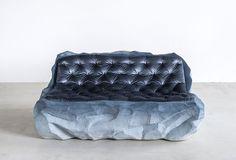 Patagonian Glaciers Inspire Fernando Mastrangelo's New Drift Collection | Sofa. #interiordesign #interiordesignmagazine #design #products #seating #sofa