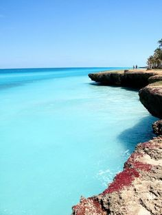Sea Cliffs, Varadero, Cuba  One of the most scenic places and the most amazing waters you will find in the Caribbeans.