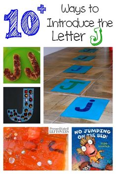 There are so many fun ways to teach letters. Here are fun crafts, recipes, printables, activities and ways to introduce the letter J to your child. Teaching Letters, Preschool Letters, Preschool Lessons, Preschool Learning, Kindergarten Activities, Toddler Activities, Preschool Activities, Toddler Fun, Toddler Crafts