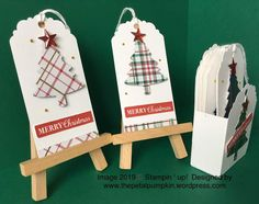 Fantastic No Cost Scrapbooking Paper crafts Style Scrapbooking paper varieties the background for each and every website of your respective scrapbook. Christmas Paper Crafts, Stampin Up Christmas, Christmas Gift Tags, Xmas Gifts, Handmade Gift Tags, Plaid Christmas, Card Tags, Gift Cards, Stampin Up Cards