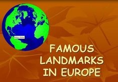 This is a fun lesson presentation of different landmarks in Europe which was created for ELL and/or special needs students who are mainstreamed in the general education setting. By the end of the lesson students will define a landmark and explain how the geographical, historical, and cultural landmark of a countries inspire tourism by creating a postcard.