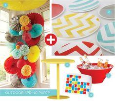 Outdoor Spring Party :: Aqua, Red