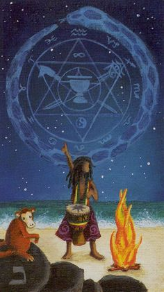 I. The Magician - Sun and Moon Tarot by Vanessa Decort