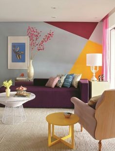 Awesome Accent Wall Ideas Can You Try at Home New Living Room, Living Room Decor, Wall Design, House Design, Geometric Wall, Bedroom Wall, Diy Home Decor, Interior Design, Pico
