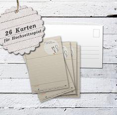 Hochzeitsspiel: 26x Rezeptepostkarten!  von EINE DER GUTEN - Bücher für ein tolleres Leben auf DaWanda.com