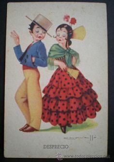 6067D - EDICIONES CMB SERIE 25 -  DATA 1941 - DESPRECIO - ILUSTRA CARVALLÓ (Postales - Dibujos y Caricaturas)