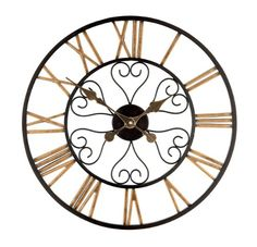 Gardman Hamilton Clock, Multi-Colour The stylish Hamilton Roman Numeral Clock is a lovely architectural design with pierced metal numerals and surround in distinctive black and gold. Measuring 50cm diameter, (Barcode EAN = 5024160794987) http://www.comparestoreprices.co.uk/december-2016-6/gardman-hamilton-clock-multi-colour.asp