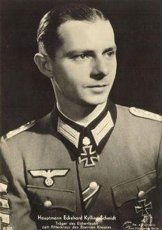 ✠ Ekkehard Kylling-Schmidt (21 June 1918 – 28 August 2000) RK 20.10.1941 Leutnant Führer 3./Inf.Rgt 26 30. Infanterie – Division [150. EL] 04.12.1942 Oberleutnant Chef 4./Füs.Rgt 26 30. Infanterie – Division