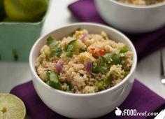 High Protein Cilantro Lime Quinoa Salad Recipe