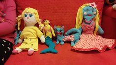 textil dolls, mermaid, cat - for my daughter :)