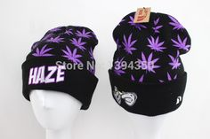 Find More Skullies & Beanies Information about 2014 hot sale HAZE Beanie Hats fashion Black with purple green marijuana leaf hiphop boy girl hats & caps top quality,High Quality hat fashion show,China fashion winter hat Suppliers, Cheap fashion rubber from Snapsale on Aliexpress.com
