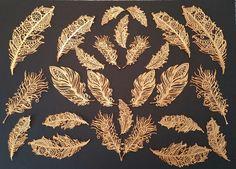 Goldene essbare Federn