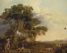 Two Gentlemen Shooting, George Stubbs (British, Liverpool 1724–1806 London),  ca. 1769