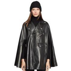 Lambskin Dean Cape - Black Label  Outerwear - RalphLauren.com