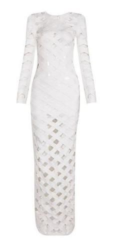 Alanna White Bandage Dress