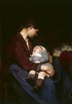 """Mother and Child"" by Elizabeth Bourse (1860-1938) lighting wow"
