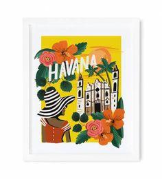 Rifle Paper Co. - Havana - Illustrated Art Print