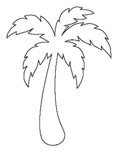free printable patterns to use for coloring crafts stencils and more simple palm tree pattern