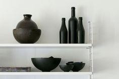 bouteilles peintes noir mat