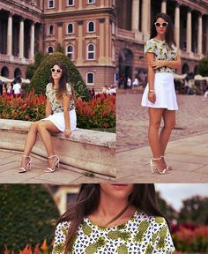 H Tee, United Colors Of Benetton Skirt, Zalando Sungalsses