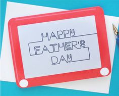 FREE Printable Etch A Sketch Father's Day Card download and tutorial.