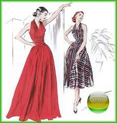 Butterick 4919 Retro 50s Cinch Waist Wrap Dress Patterns
