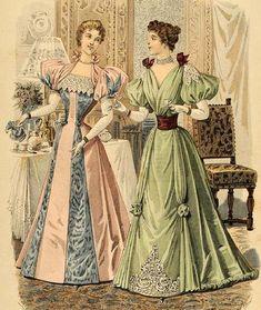 "shewhoworshipscarlin: "" Evening dress fashion plate, 1894. """