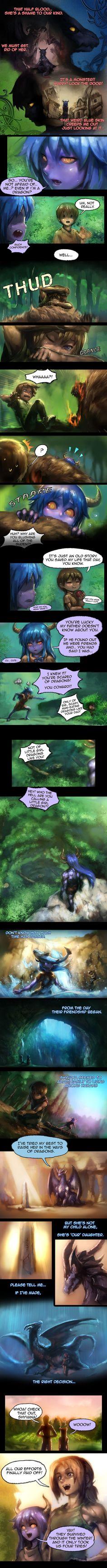 Shyvana~ The Half Dragon Tale. Page 3/6 by ptcrow.deviantart.com on @DeviantArt