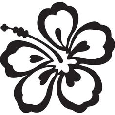 Hang Loose hawaii Clip Art | Hawaiian Flowers Clip Art Black And ...