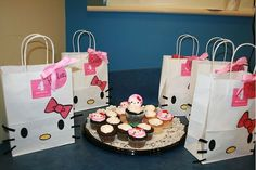 Hello Kitty goodie bags SAYING,,,,HELP RYLEIGH CELEBRTE HER 5TH BIRTHDAY WITH HER 5 FAVORITE THINGS