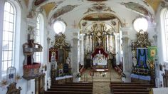 Denklingen Neubau der Pfarrkirche wird 250 Jahre alt | Schongau Castle Season, Lokal, Medieval Castle, Dom, Fair Grounds, Germany, Painting, New Construction, Baroque