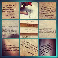 Write Bible verses under your flooring when building a new home. Great idea. Bless your home everyday.