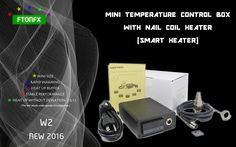 79.00$  Buy here - http://aliijs.worldwells.pw/go.php?t=32452937085 - (NEW 2016 , W2, Contain Titanium nail) MINI  TEMPERATURE CONTROL BOX,nail coil heater titanium nail electronic cigarette