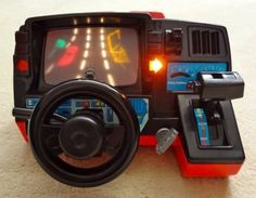 Dashboard Toy Driving Simulator - My brother had one.  Made a lot of noise. -
